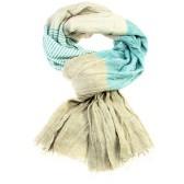 Trendy sjaal aqua