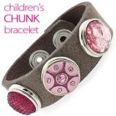 Chunk armband voor kinderen met roze chunks