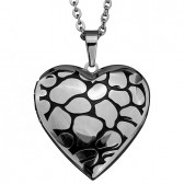 Foto medaillon hanger rvs edelstaal hart