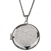 Photo locket pendant stainless steel