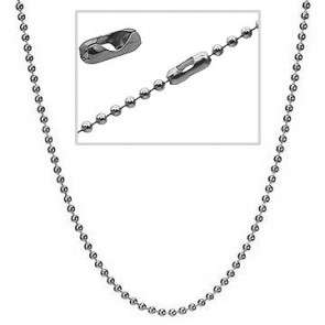 Silver ball chain 2mm for pregnancy bola 100 cm