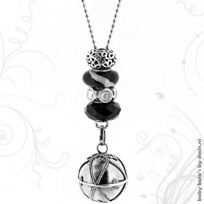 Pregnancy necklace limited edition - Deep black