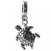 Clip on charm for leather bracelet - turtle