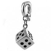 Clip on charm for leather bracelet - dice