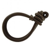 Leather charm bracelet brown
