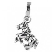 Clip on charm for leather bracelet - horse