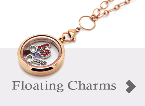 floating charms, memory charms, memory lockets, charm hangers
